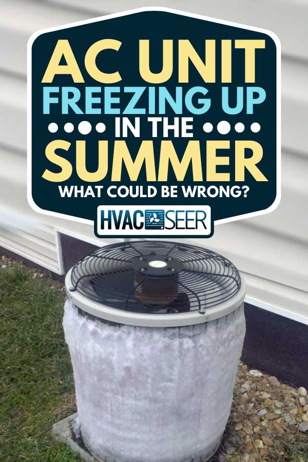 A frozen air conditioning unit outside home, AC Unit Freezing Up In The Summer - What Could Be Wrong?