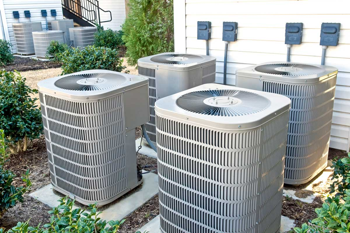 Airconditioning units outside of the house