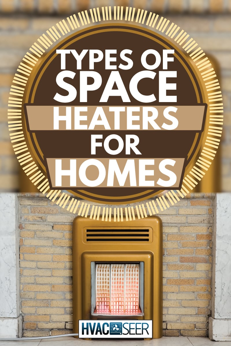 Antique gas fire, photographed when fully lit, types of space heaters for homes