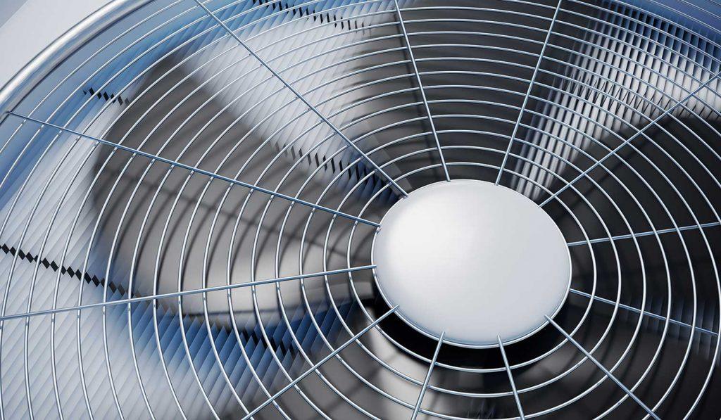Close up view on a HVAC unit