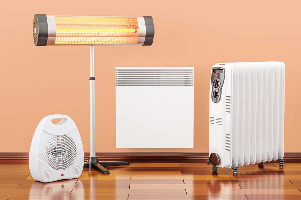 Convection, fan, oil-filled and infrared heaters