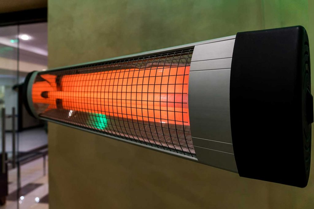 Convection heater heating the room in the cold winter