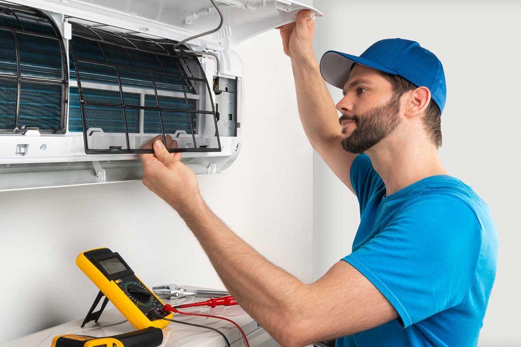 Installation service fix repair maintenance of an air conditioner indoor unit