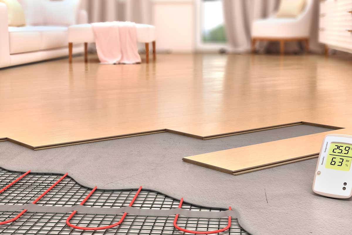 Laying engineered wood boards on electrical underfloor heating, What Flooring Is Best For Heated Floors? [4 Types]