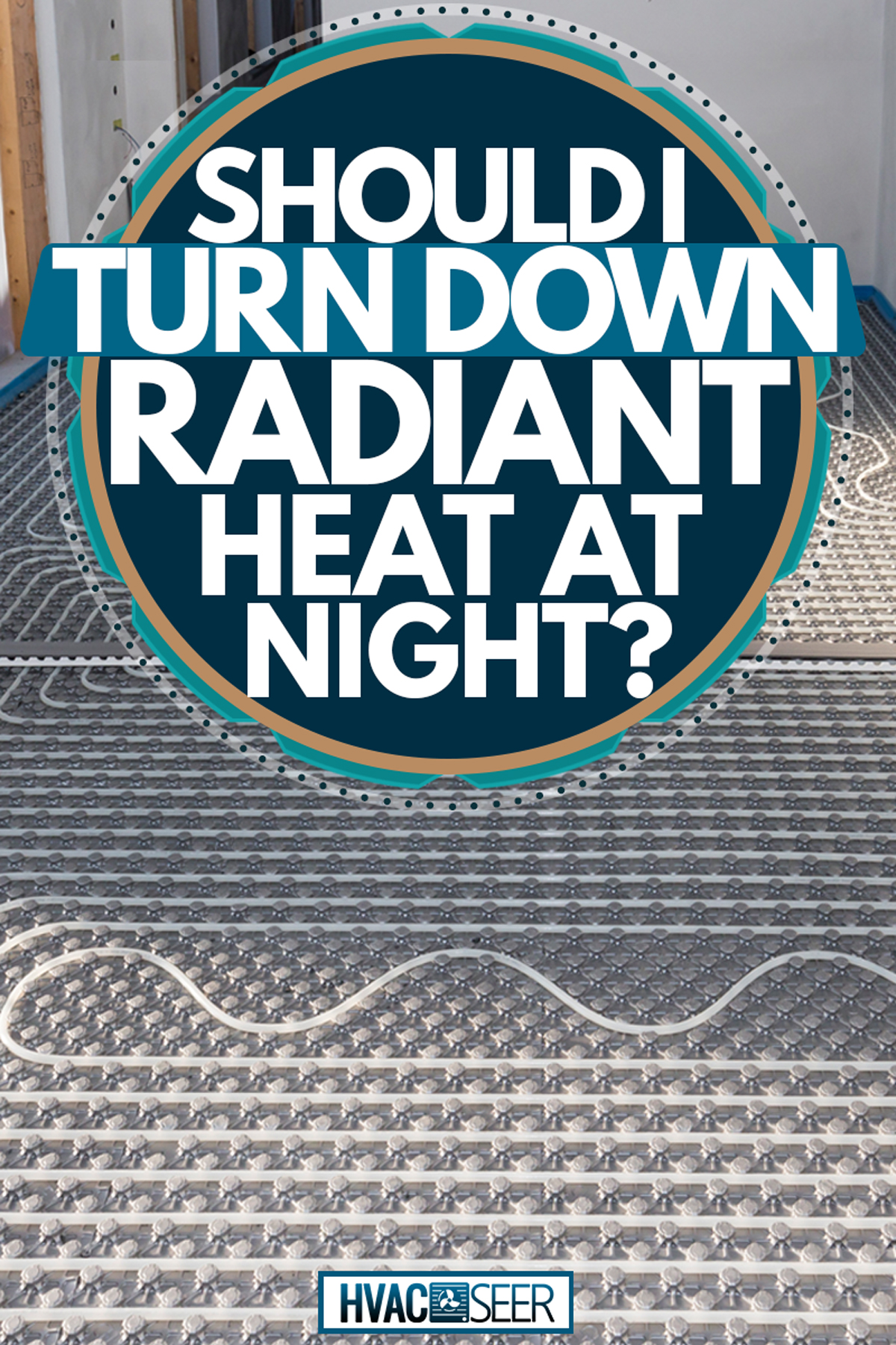 A radiant floor heating system on a small room with a control panel on the wall, Should I Turn Down Radiant Heat At Night?
