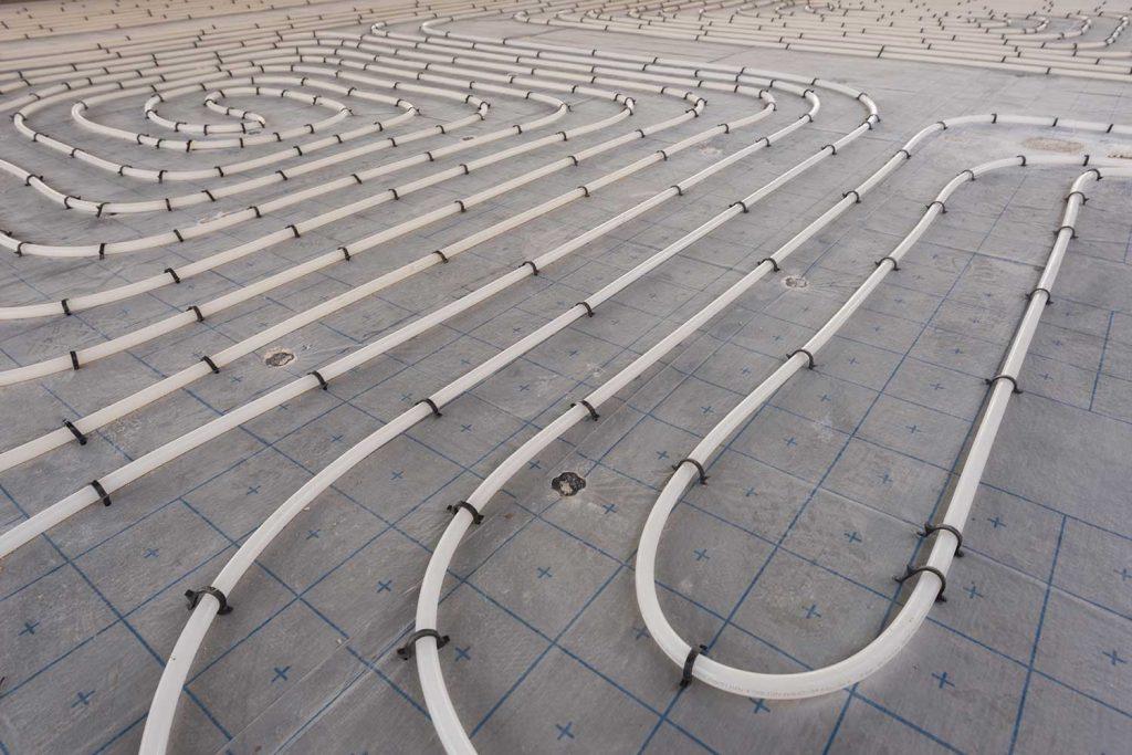 Underfloor heating system installation