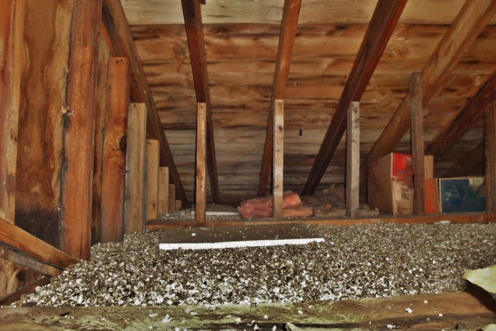 An old attic of a residential house