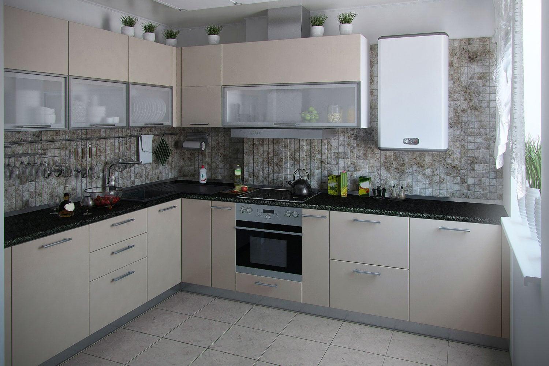 Modern kitchen interior conservative tones