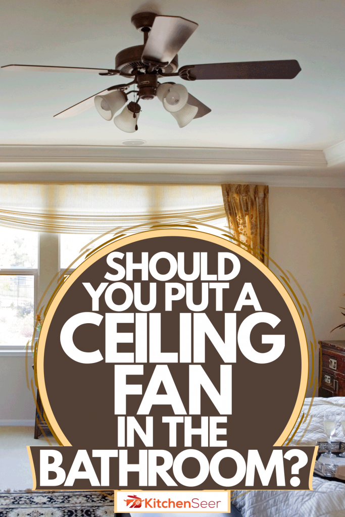 Interior of an earth themed living room with a ceiling fan, Should You Put A Ceiling Fan In The Bedroom?