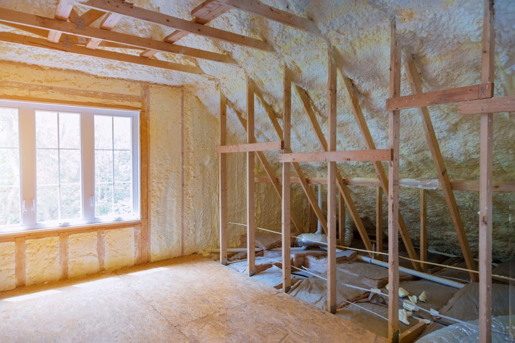 Thermal insulation of the attic of a house under construction
