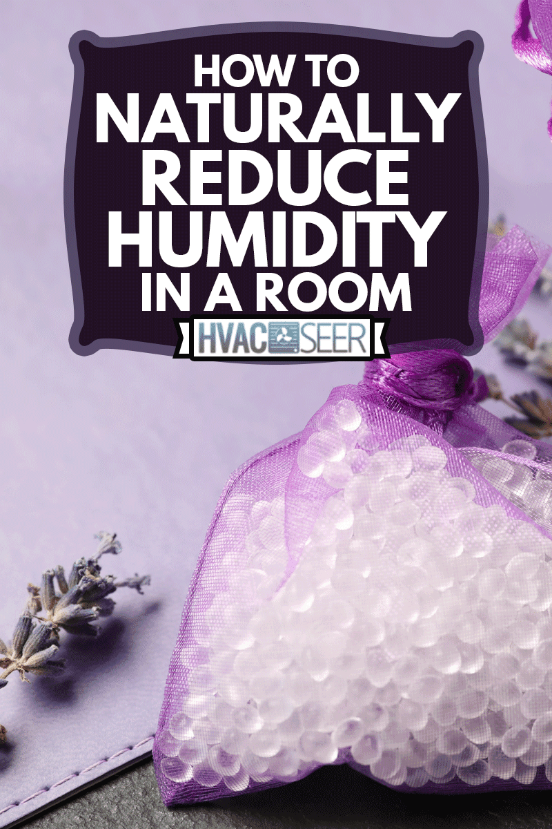 Silica gel and dried lavender on black table,How To Naturally Reduce Humidity In A Room