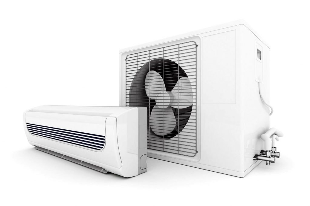 A high velocity air conditioning unit