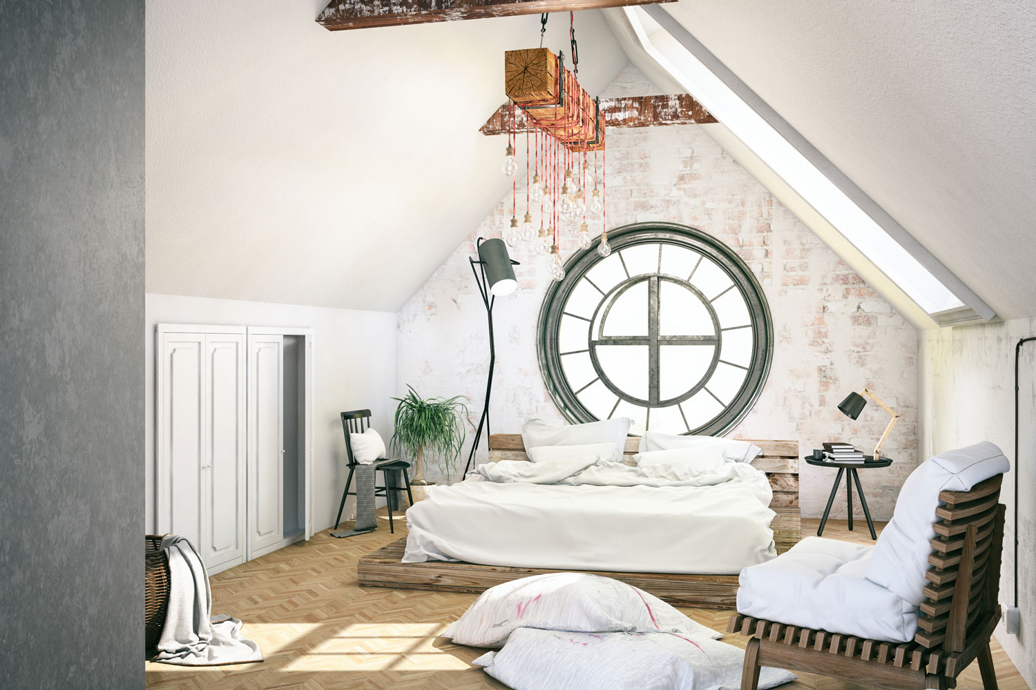 Loft bedroom with cozy design, How To Cool An Attic Bedroom [6 Methods To Try]