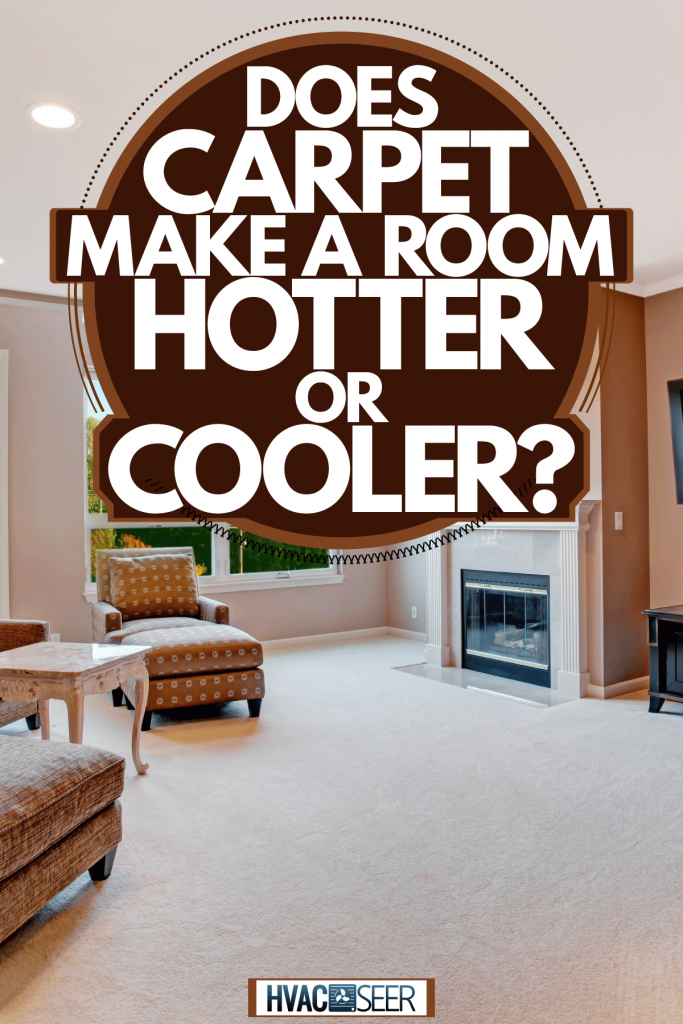 Interior of a lively living room with brown sofas, brown painted walls, and a matching black painted furnitures, Does Carpet Make A Room Hotter Or Cooler?