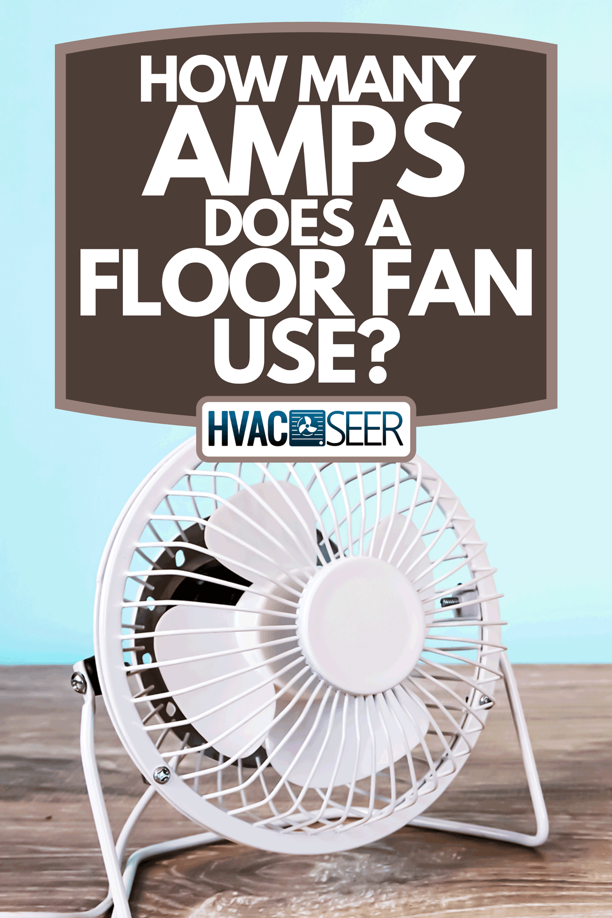 A floor fan on empty wooden floor and teal wall, How Many Amps Does A Floor Fan Use?