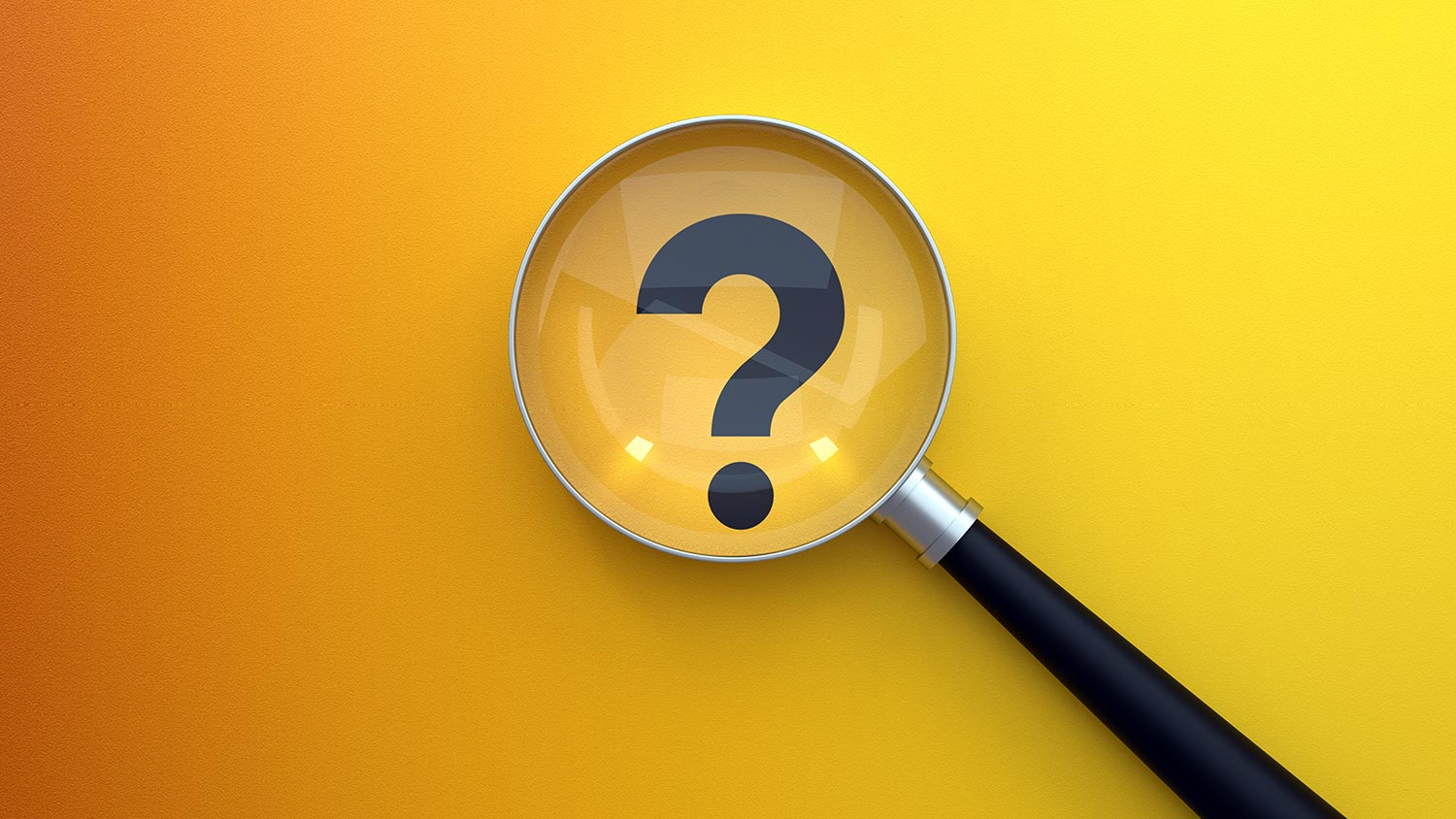 Searching question mark magnifying glass concept